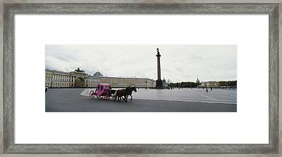 Horsedrawn Carriage In Front Framed Print by Panoramic Images