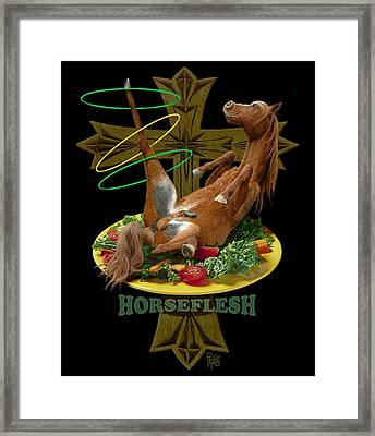 Horseflesh Framed Print