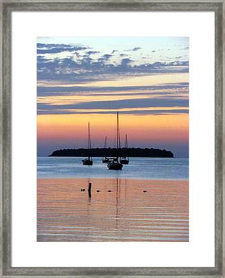Horsehoe Island Sunset Framed Print