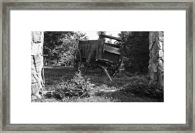 Horseless Blk And Wht  Framed Print by Robert J Andler