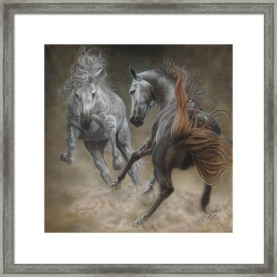 Horseplay II Framed Print
