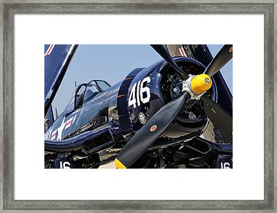 Navy Corsair Framed Print