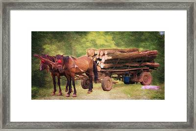 Horsepower Framed Print