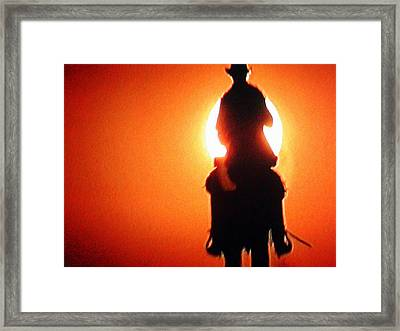 Horserider With Out A Name Framed Print by Colette V Hera  Guggenheim