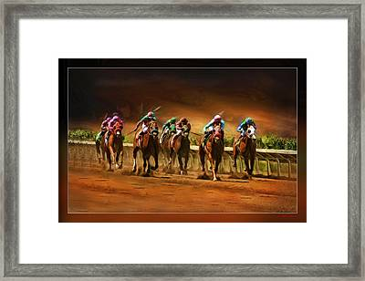 Horse's 7 At The End Framed Print