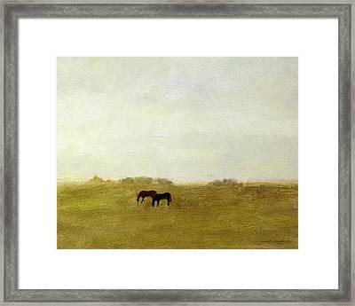 Horses Afield Framed Print