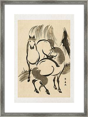 Horses Framed Print by Aged Pixel