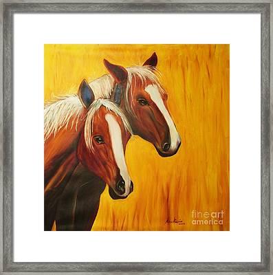 Horses Framed Print by Anastasis  Anastasi