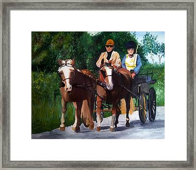 Sunday Afternoon Drive Framed Print by Isabella F Abbie Shores FRSA