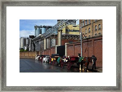 Horses And Carriages Framed Print by Panoramic Images