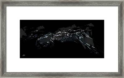 Framed Print featuring the photograph Horses - Cavalli by Ze  Di