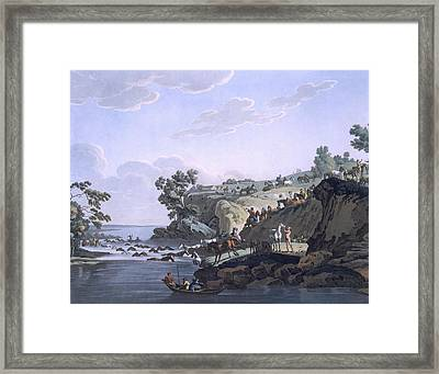 Horses Crossing A River, 1812-13 Framed Print by E. Karnejeff