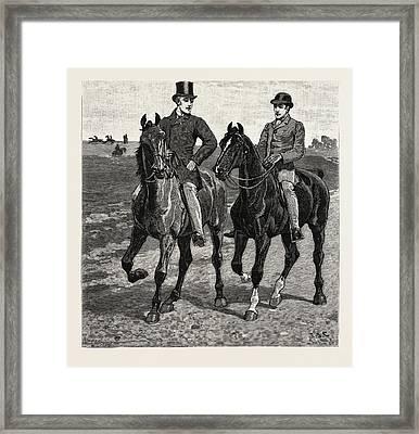 Horses, Engraving 1884, Life In Britain, Uk, Britain Framed Print