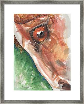 Horses Eye Framed Print by Mary Armstrong