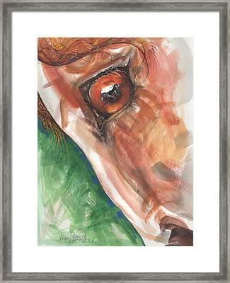 Horses Eye Framed Print