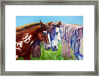 Horses Frolicking  Framed Print