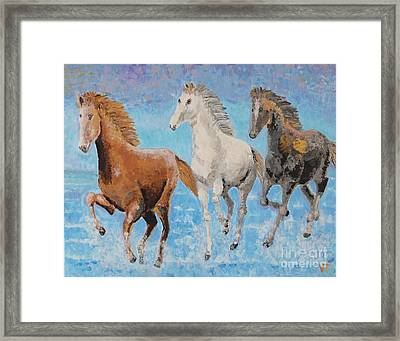 Horses From Troy Framed Print