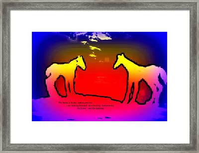 Feel The Horses Inside Of Us And The Space Outside  Framed Print