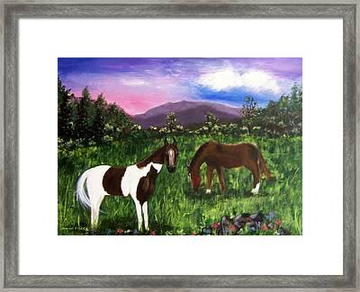 Horses Framed Print by Jamie Frier