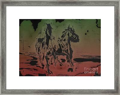 Horses Framed Print by Manik