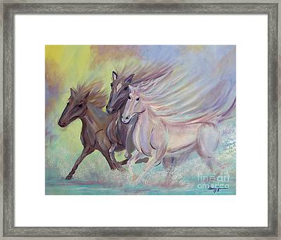 Horses Of The Sea Framed Print