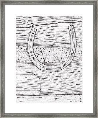 Horseshoe 2 Framed Print