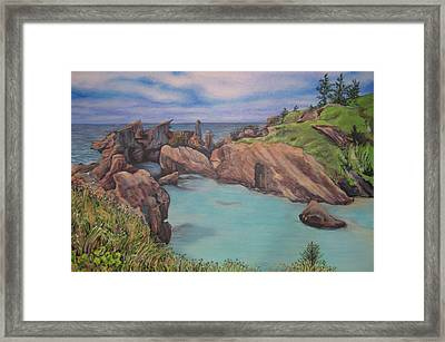Horseshoe Bay Beach Bermuda Framed Print