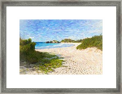 Framed Print featuring the photograph Horseshoe Bay In Bermuda by Verena Matthew