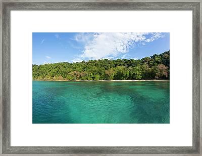 Horseshoe Bay, Matangi Private Island Framed Print by Douglas Peebles