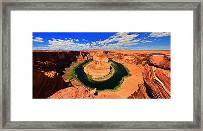 Horseshoe Bend  Arizona Panorama Framed Print by David Toussaint