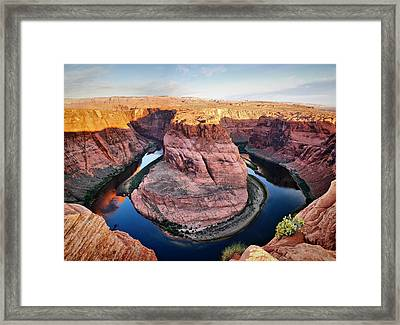 Horseshoe Bend At Sunrise - Page Arizona Framed Print