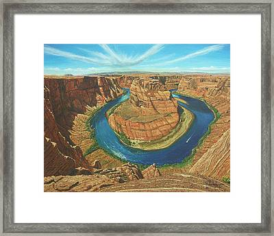 Horseshoe Bend Colorado River Arizona Framed Print by Richard Harpum
