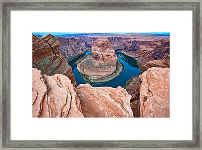 Horseshoe Bend Morning - Colorado River Photograph Framed Print