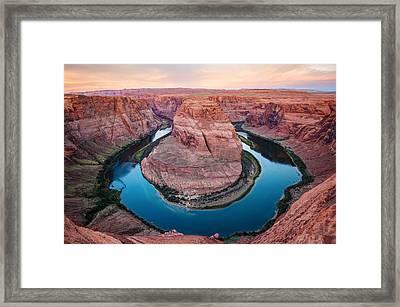 Horseshoe Bend Morning - Page Arizona Framed Print