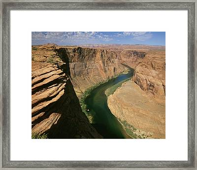 Horseshoe Bend Of Colorado River, Page Framed Print by Tips Images