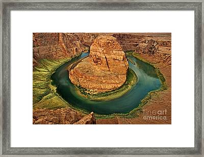 Framed Print featuring the photograph Horseshoe Bend by Roman Kurywczak