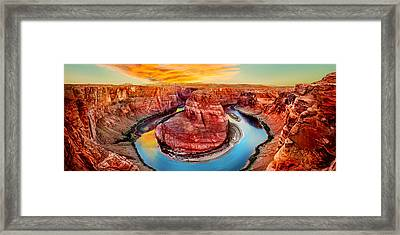 Horseshoe Bend Sunset Framed Print by Az Jackson