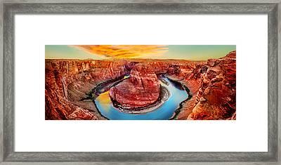 Horseshoe Bend Sunset Framed Print by Az Jackson