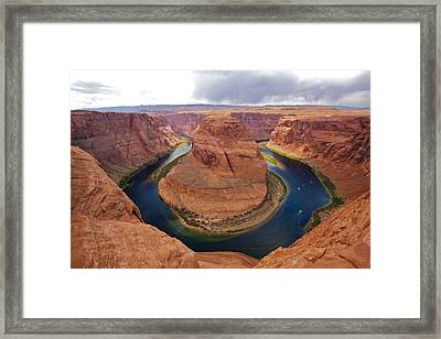 Horseshoe Bend View 1 Framed Print