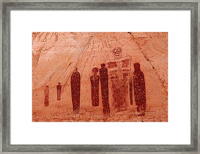 Horseshoe Canyon Pictographs Framed Print by Alan Vance Ley
