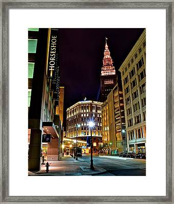 Horseshoe Casino Framed Print by Frozen in Time Fine Art Photography