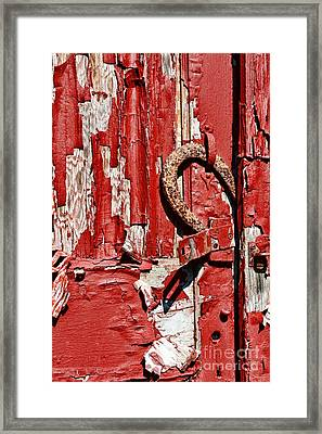 Horseshoe Door Handle Framed Print