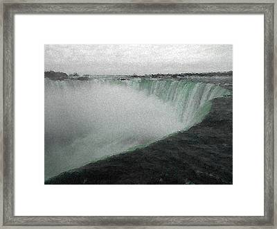 Horseshoe Falls In Winter Framed Print