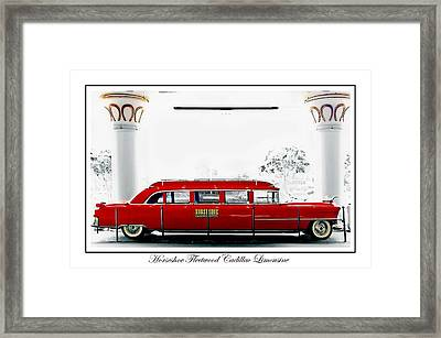 Horseshoe Fleetwood Cadillac Limousine Framed Print by Barbara Chichester