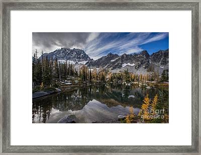 Horseshoe Lake Cloud Dramatic Framed Print