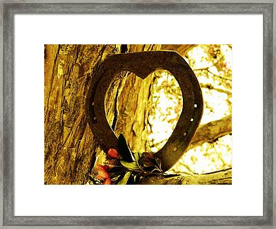 Horseshoe Love Framed Print