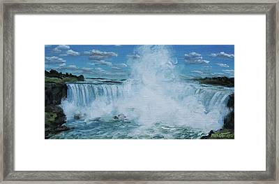 Horseshoe Mist Framed Print by Michael Marcotte