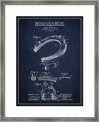Horseshoe Patent Drawing From 1898 Framed Print