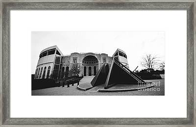 Horseshoe Stadium  Framed Print by Rachel Barrett