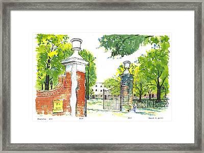 Horseshoe University Of S.c. Framed Print
